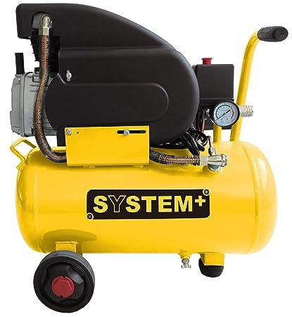 Compresor de aire lubrificato ad Aceite de 24 litros 1500 W 8 bar System +