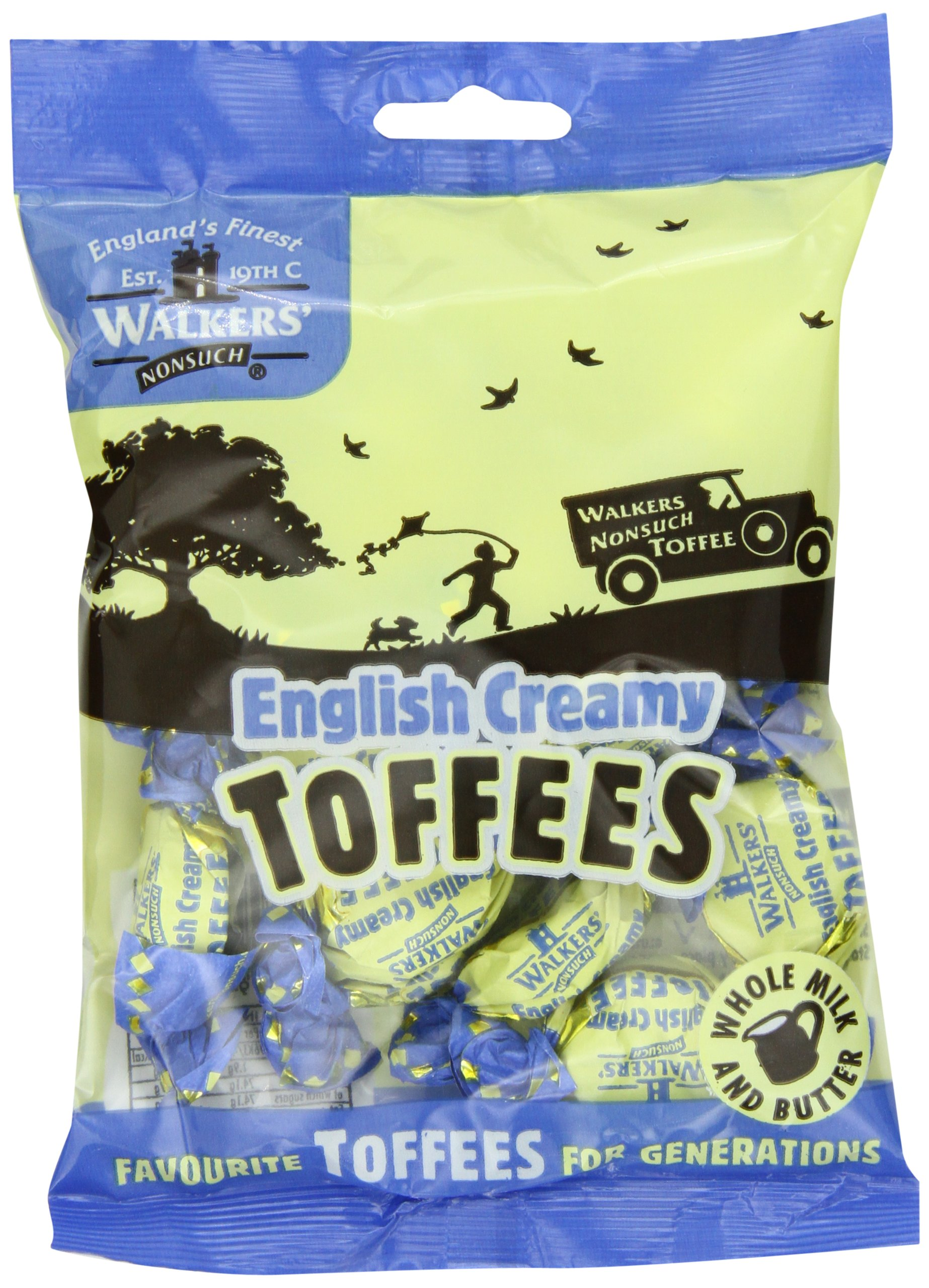 Walkers Nonsuch Toffees, English Creamy, 5.29-Ounce Bag (Pack of 12)