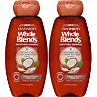 2-Pack Garnier Whole Blends Smoothing Shampoo with Coconut Oil & Cocoa Butter Extracts, 12.5 Fluid Ounce