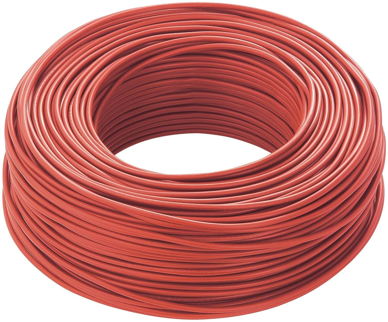 triveneta Cavo Elettrico Unipolare Filo Rame 1,5 2,5 4 6mm Ltc CPR Fs17 per Impianti Casa, Rosso, 1,5 MM