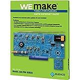 Elenco AM/FM Radio Kit |Switch Between ICs & Transistors | Lead Free Solder | Great STEM Project | Superheterodyne Designed t