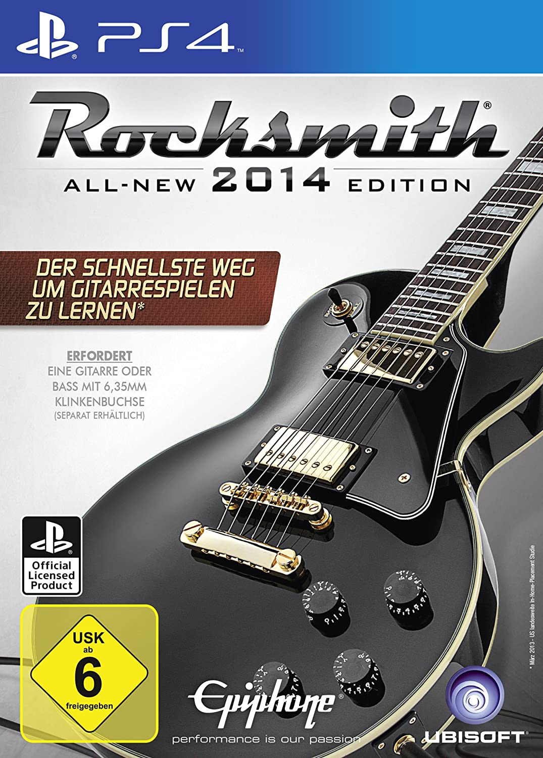 Ubisoft Rocksmith 2014 - Juego (PlayStation 4, Música, T (Teen))