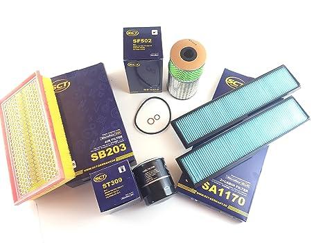 Filtro de aceite Filtro de aire 2 x Interior filtro Filtro ...