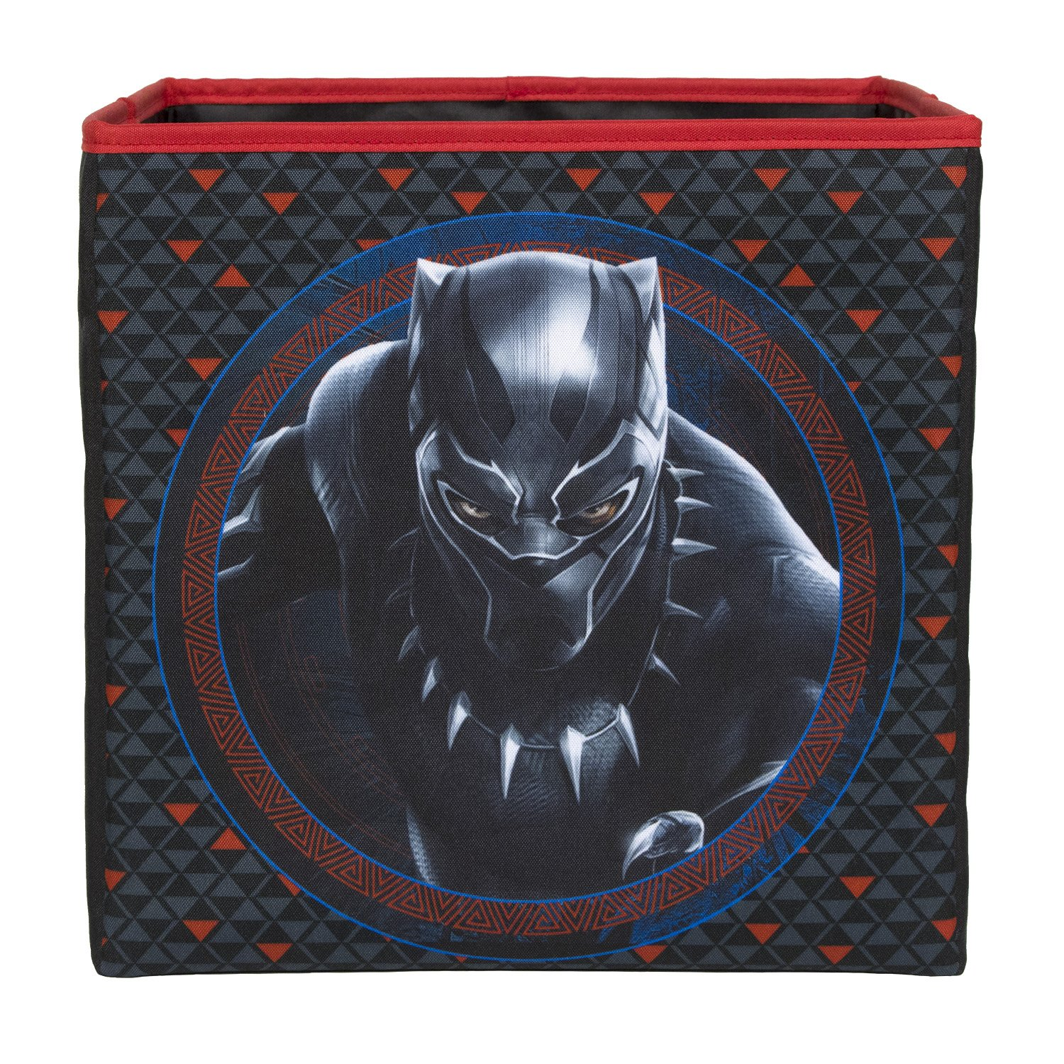 BriteLoft Marvel Black Panther Collapsible Storage Bin for Toys | Toy Box for Closet, Bedroom Organizer, Office Container | Storage Bin for Kids, Children's Stuffed Animals, Kids Toys