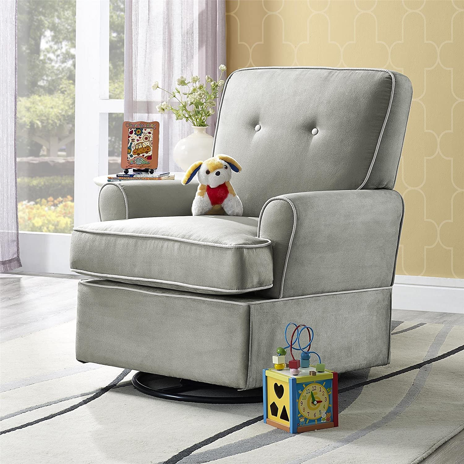Amazon Baby Relax The Tinsley Nursery Swivel Glider Chair – Baby Gliding Chair