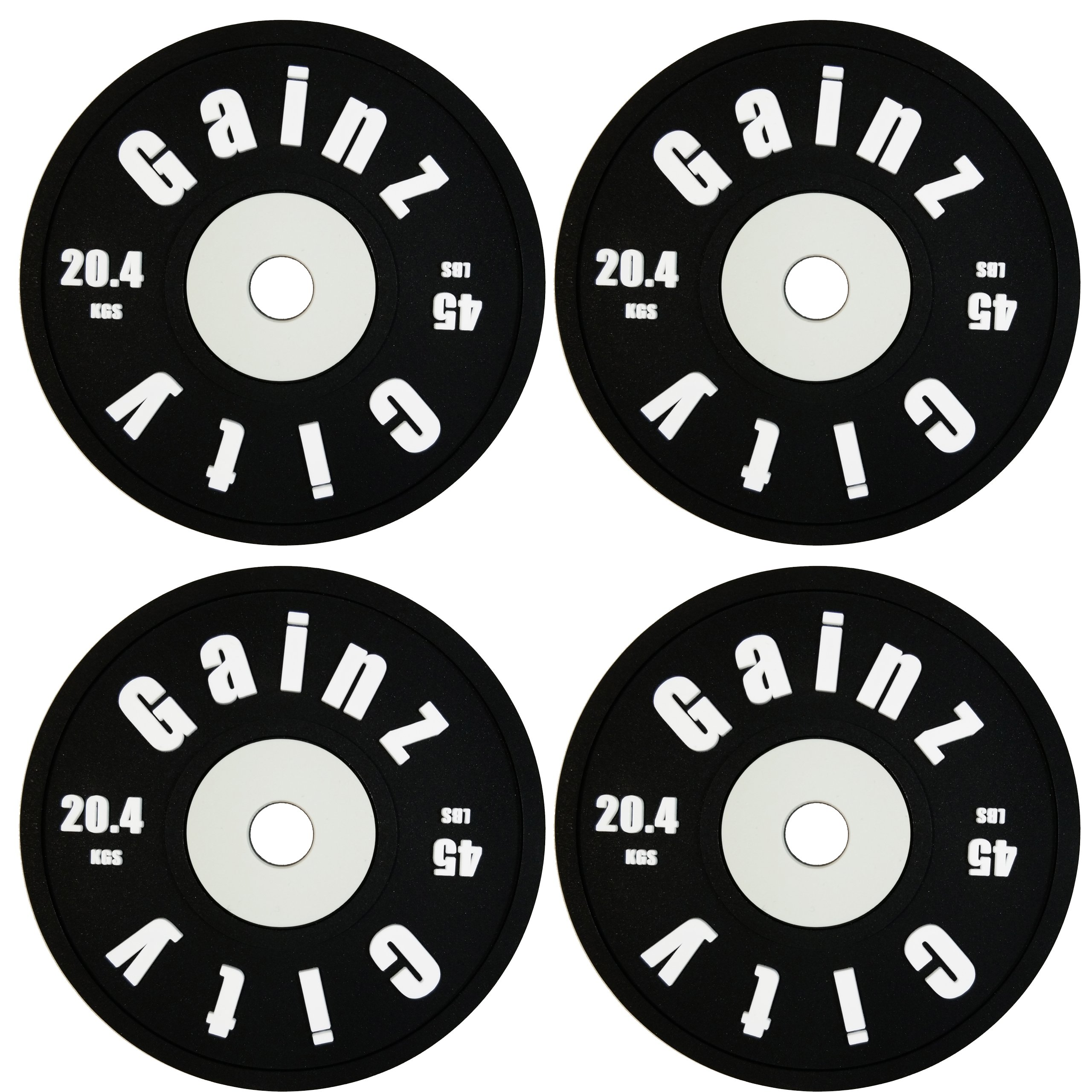 GainzCity Weight Plate Coaster Set - Set of 4 - Non Slip Silicone Drink Coasters- Perfect for Fitness Junkies, Gym Rats, Bodybuilders, and Lifters