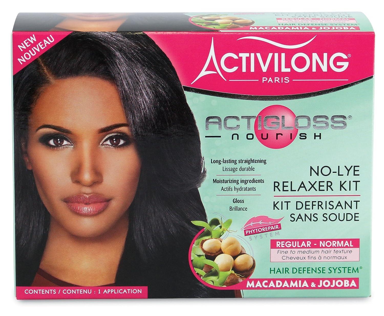 Activilong actigloss Nourish Kit défrisant senza cloro-alcali Macadamia e Jojoba normale Regular