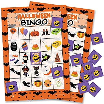 halloween bingo game for kids 24 players