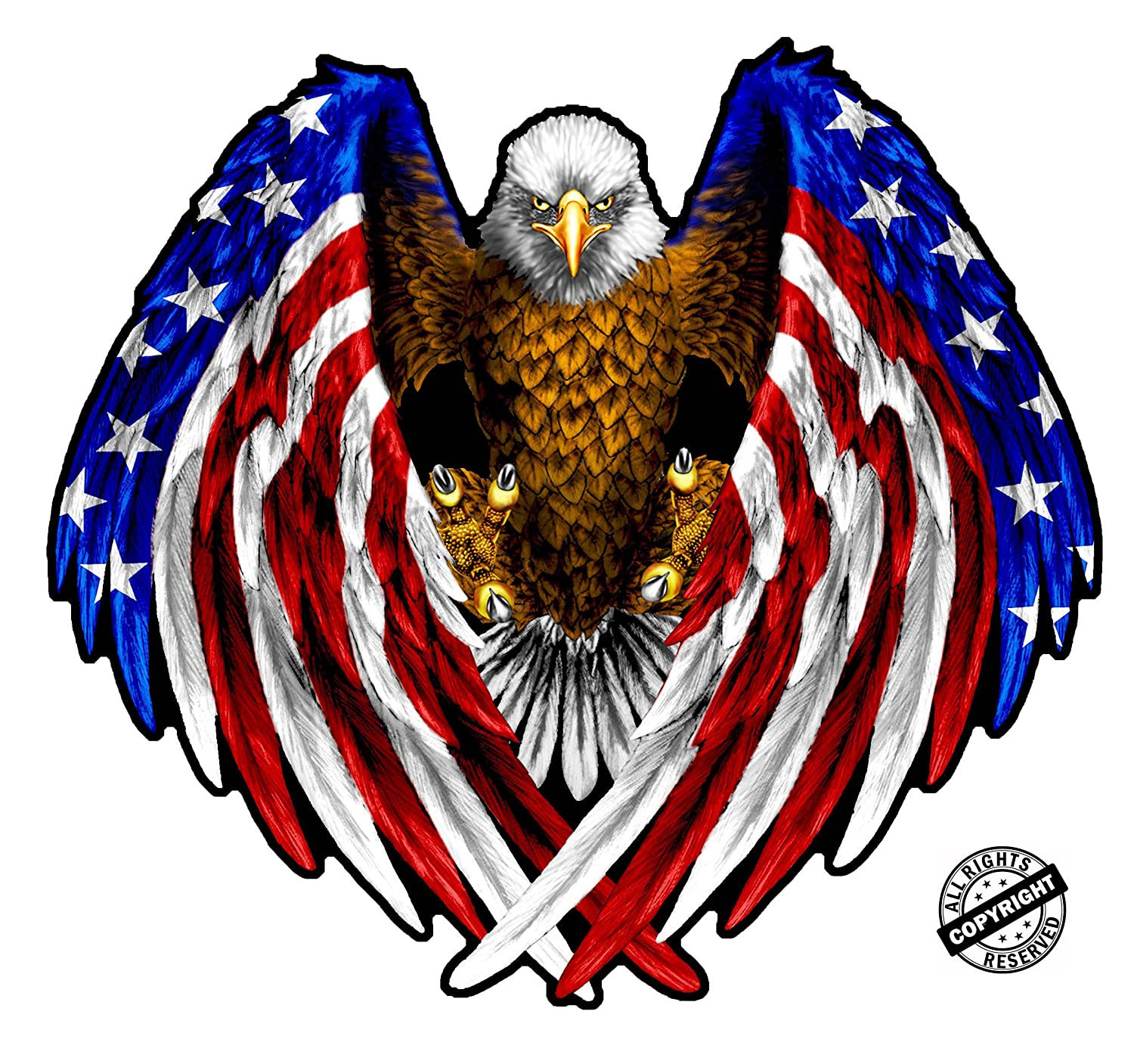 amazon com bald eagle american flag eagle wings decal is 5 0