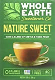 Whole Earth Sweetener Company Nature Sweet Stevia & Monk Fruit, 40 Count Boxes (pack of 2 Boxes)