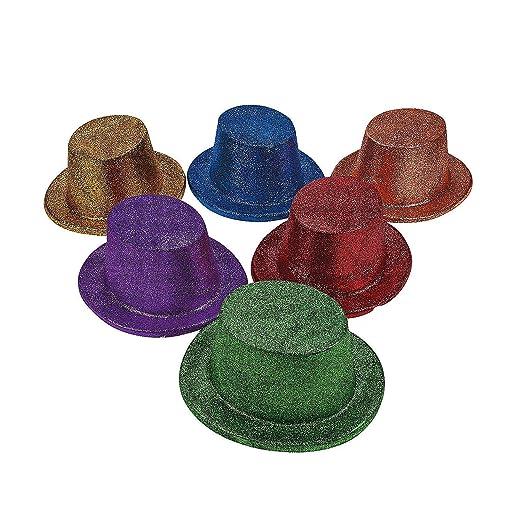 4c2081f0939 Amazon.com  Fun Express - Asst Bright Glitter Top Hats for New ...