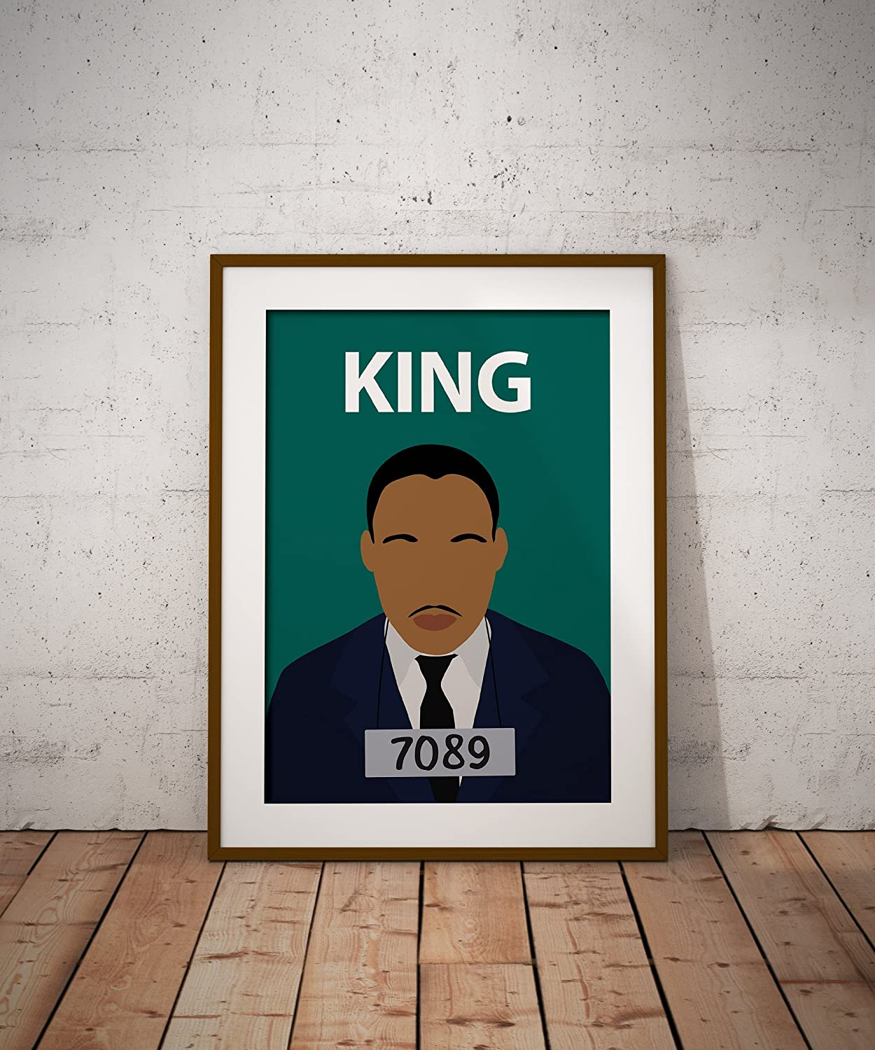 Black Lives Matter Classroom MLK Day Wall Art Inspirational Colourful Martin Luther King Poster Print //// Civil Rights Minimalist