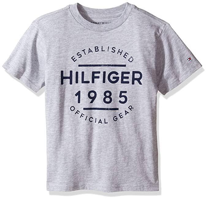 b0aafce5 Image Unavailable. Image not available for. Color: Tommy Hilfiger Little  Boys' Graphic Short Sleeve Tee ...