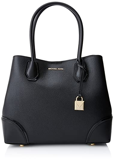 64c40836aadc16 Michael Kors Women's Leather Tote Bag (Black): Amazon.in: Shoes ...