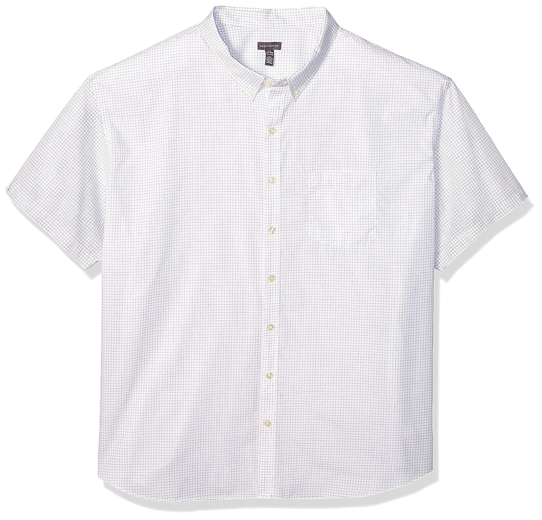 Van Heusen Mens Big and Tall Wrinkle Free Short Sleeve Button Down Check Shirt