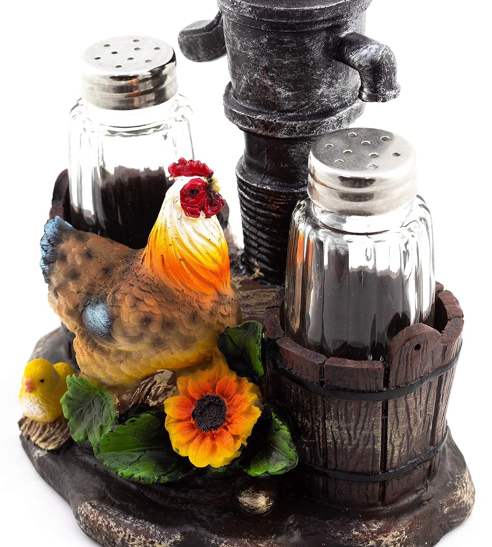 Pump Up The Spice Rooster Salt /& Pepper Shaker Set DWK COMINHKPR34432