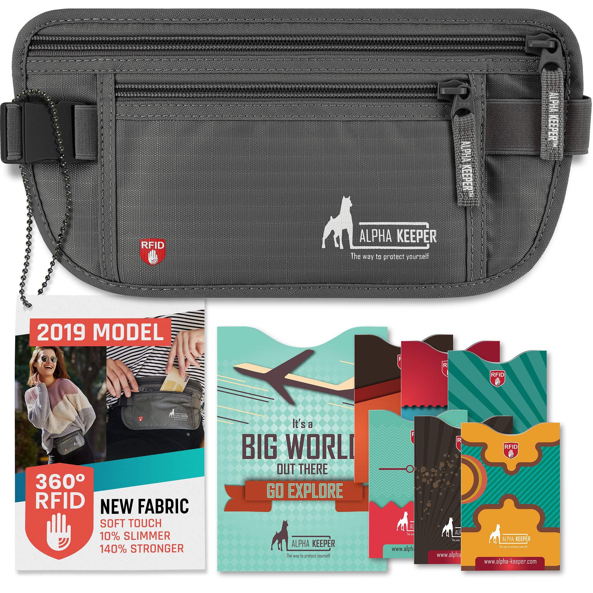 Cinturón para Dinero RFID para Viajar con Fundas de Bloqueo RFID para el Uso Diario,