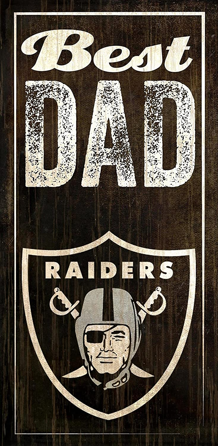 Fan Creations Oakland Raiders Best Dad Sign, Multicolored