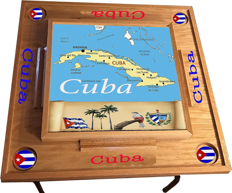 latinos r us Cuba Domino - Mesa con Mapa, Parte Superior Completa: Amazon.es: Juguetes y juegos