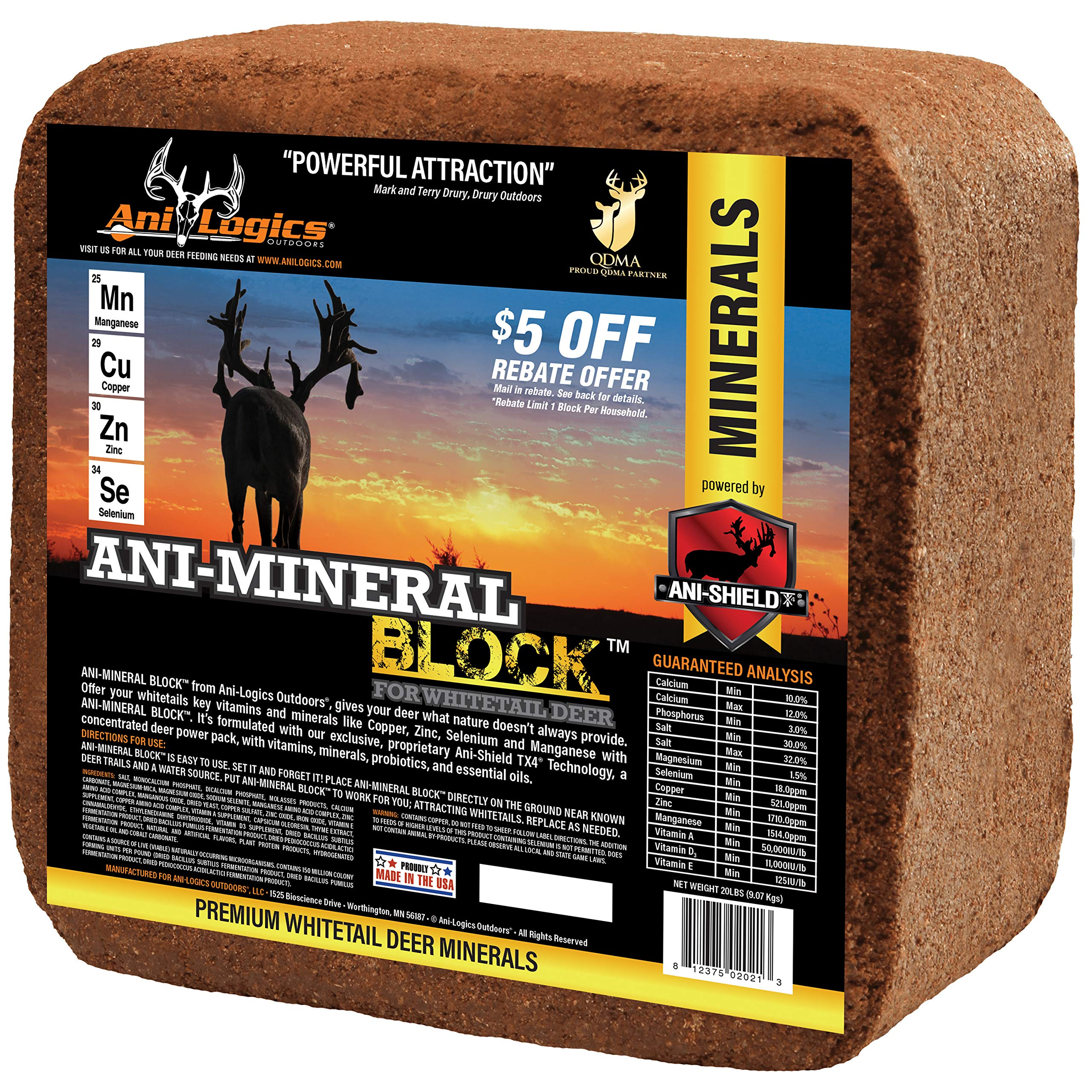 Ani Logics Outdoors Deer Mineral Block , 20 lb by Ani-Logics Outdoors (Image #1)
