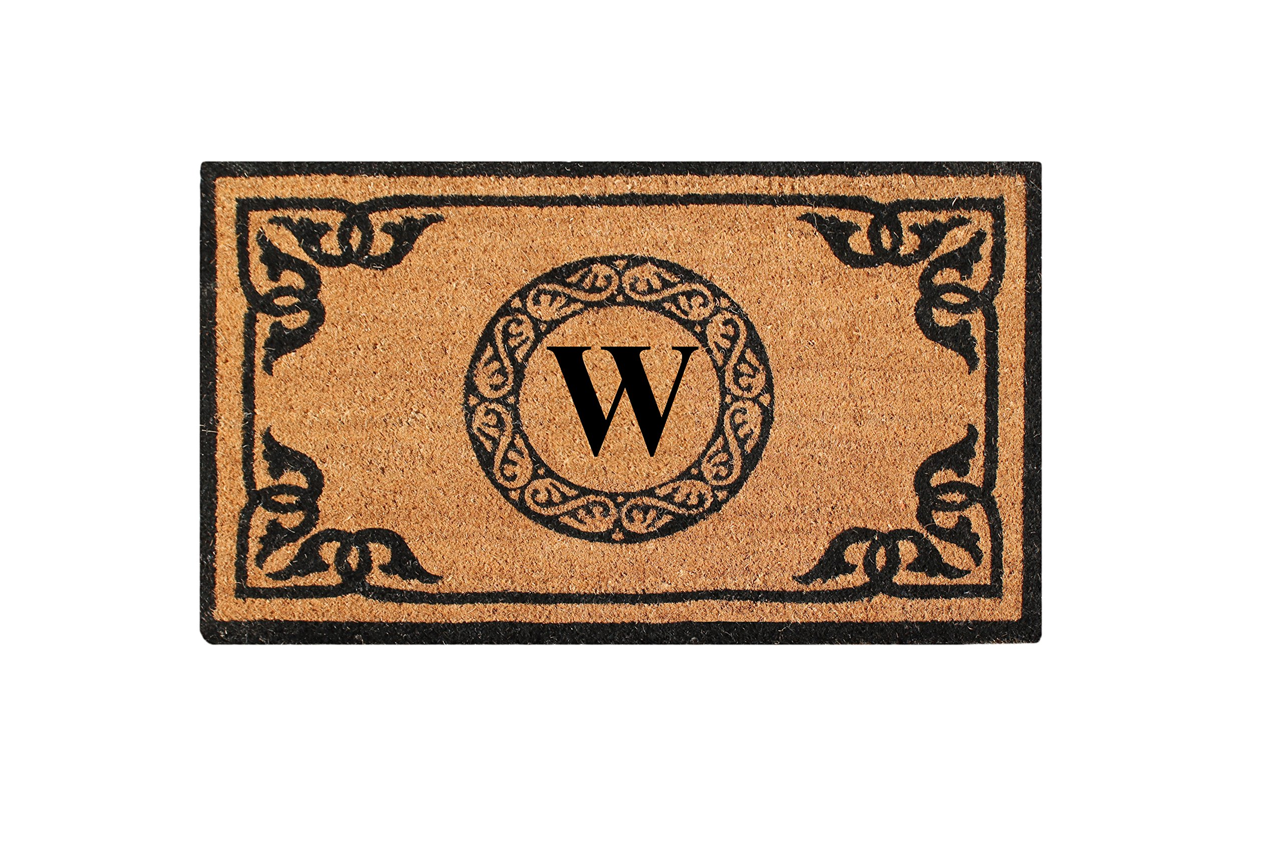 A1 Home Collections PT3006W First Impression Hand Crafted by Artisans Geneva Monogrammed Entry Doormat, 24''X39''