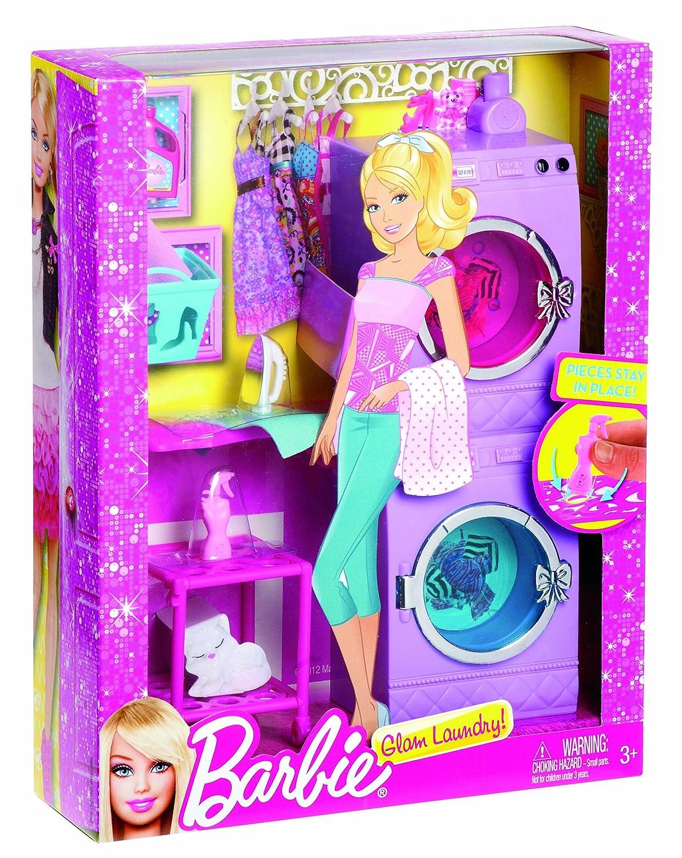 Mattel Barbie X7938 - Möbel Sortiment Waschmaschine und Trockner ...