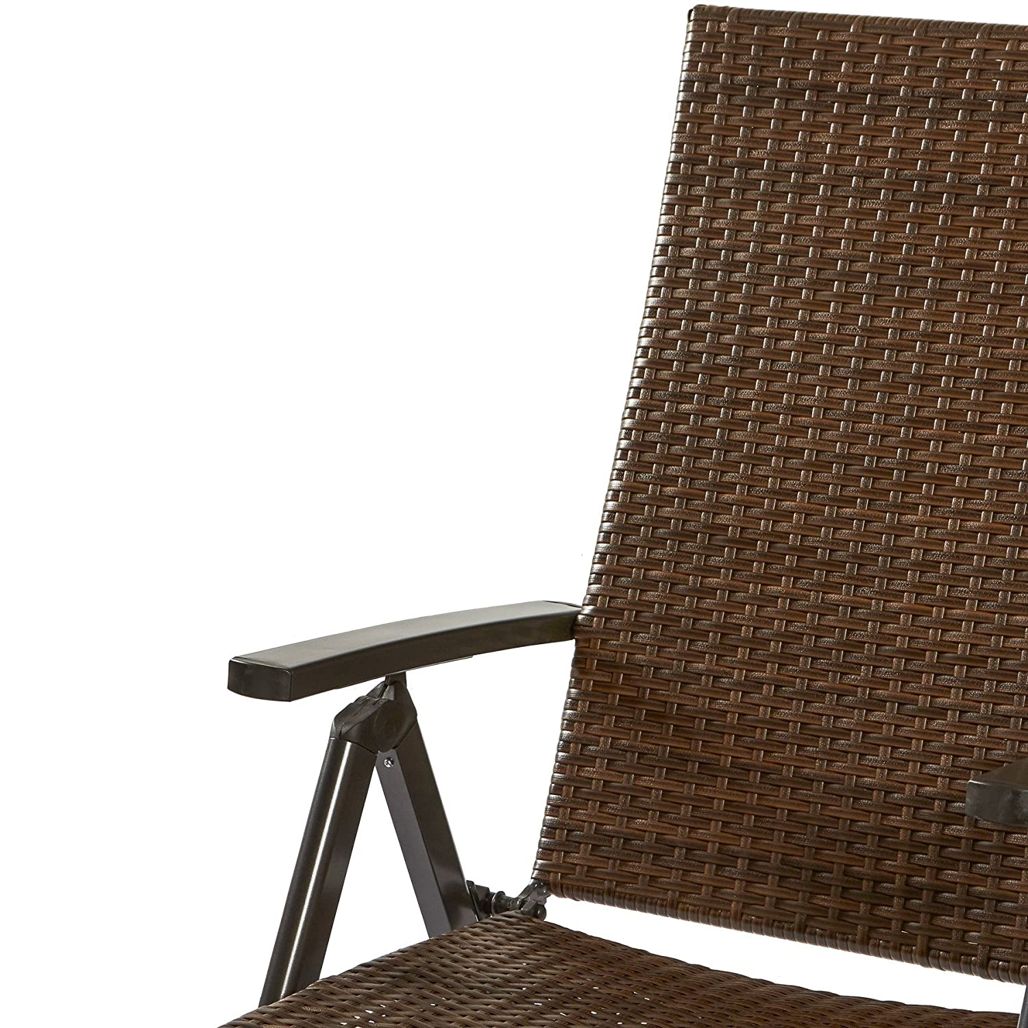 Amazon.com : Hand Woven PE Wicker Outdoor Reclining Chairs (Set of ...
