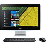 Acer Z22-780 IPS/LED All-in-One Desktop PC - (Silver/Black) (Intel i3 7100T 3.4 GHz, 8 GB RAM, 1 TB HDD, Windows 10)