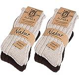 4 paia di BRUBAKER calzini, caldi e morbidi , in lana Alpaca - uomo - prodotto ecologico e naturale
