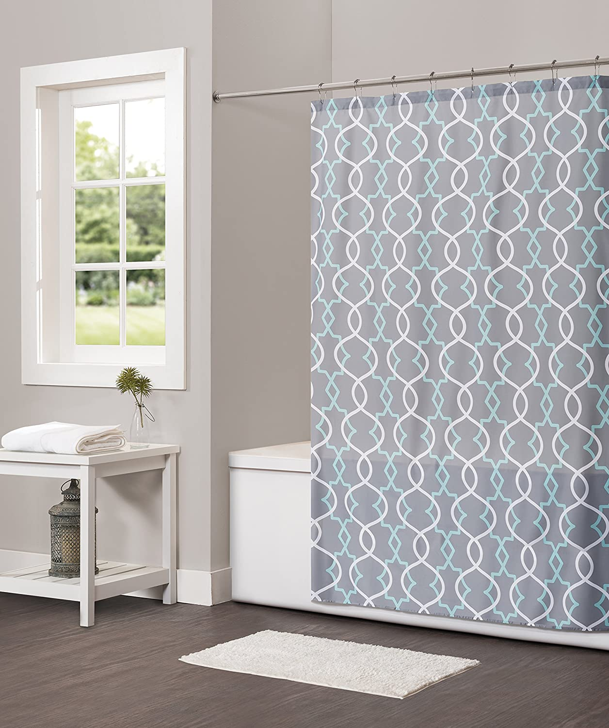 Saturday Knight Spring Lattice Shower Curtain Outlet