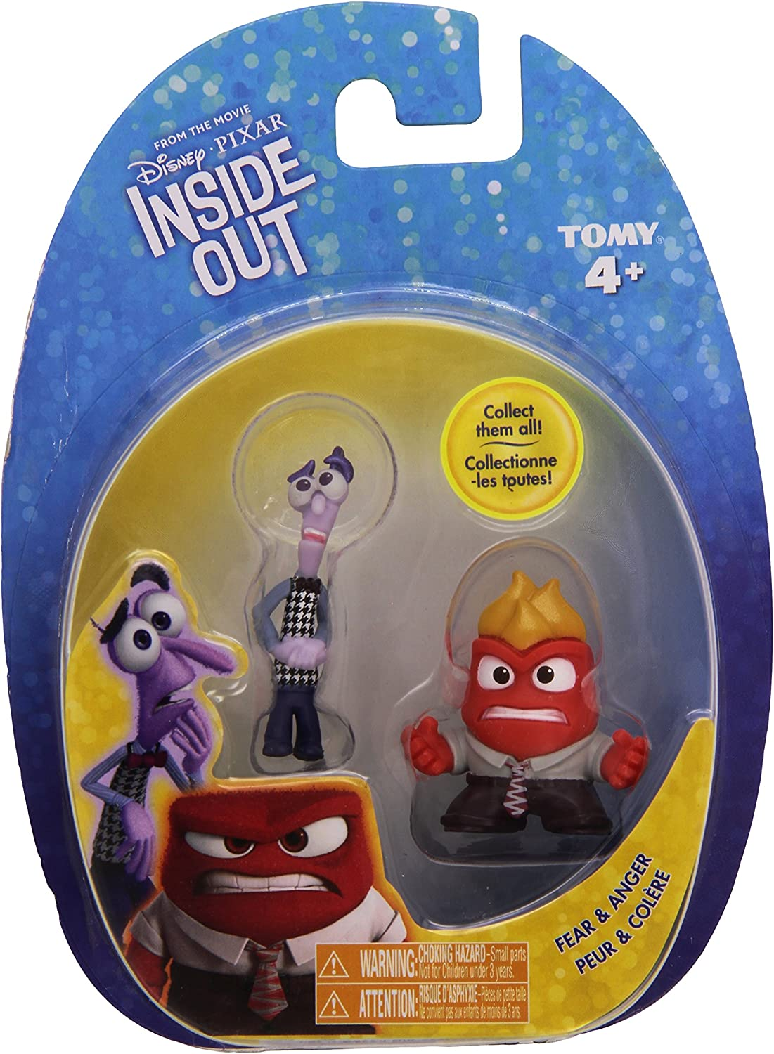 Amazon Com Disney Pixar Inside Out Rileys 5 Emotions And Imaginary Friend 2 Mini Figures 5 Emotion Characters And Bing Bong 3 Packages Toys Games