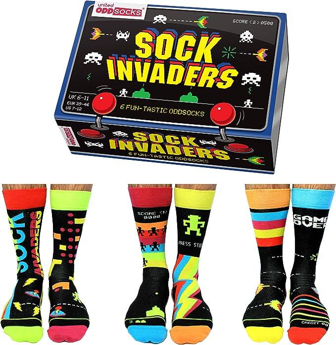 Sock Invaders United Oddsocks - 6 calcetines Oddsocks para hombre, multicolor