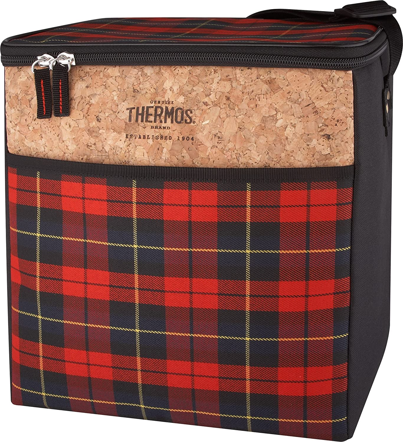 Thermos C45024003 Heritage 24 Can Cooler, Red Plaid