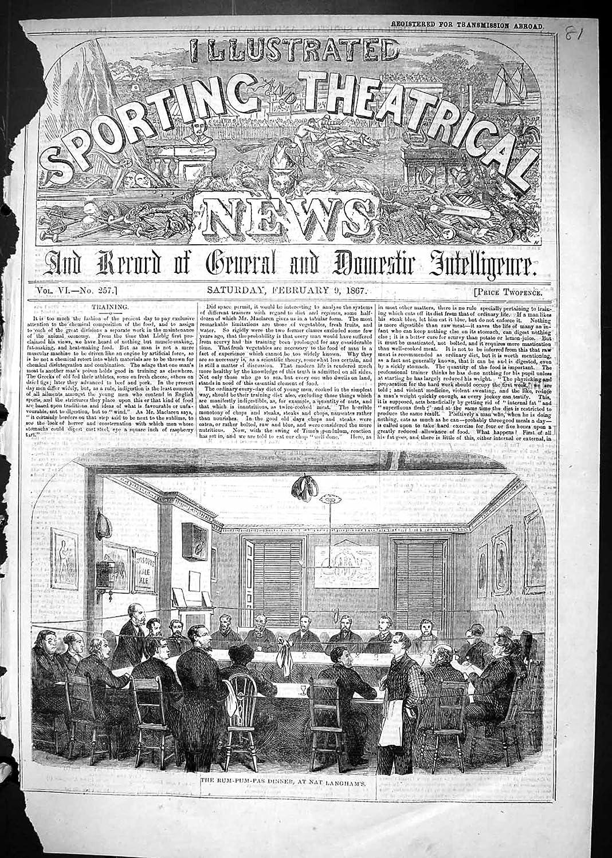 Impresión Antigua de los Hombres 1867 de Escena Que Hacen ...