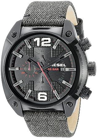 8e9af7794a77 Amazon.com  Diesel Men s DZ4373 Overflow Analog Display Quartz Black Watch   Diesel  Watches