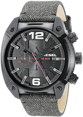 Diesel Reloj Cronógrafo para Hombre de Cuarzo con Correa en Cuero DZ4373: Diesel: Amazon.es: Relojes