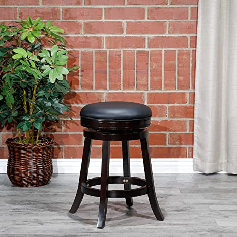 Awe Inspiring Dty Indoor Living Creede Backless Swivel Stool Espresso Finish 24 Counter Height Black Leather Seat Beatyapartments Chair Design Images Beatyapartmentscom