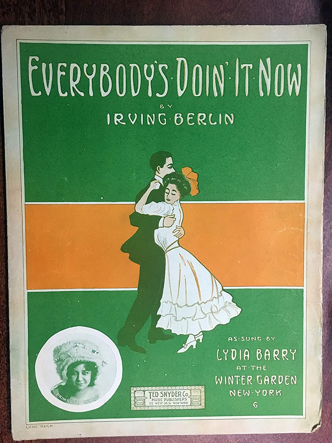 EVERYBODY'S DOIN' IT NOW (early Irving Berlin SHEET MUSIC