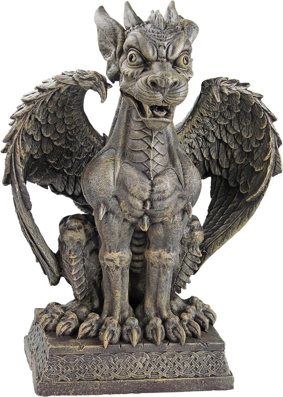 Design Toscano Boden Gargoyle Sentinel Sculpture, gothic stone