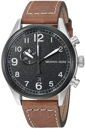 : Michael Kors piel Reloj Casual De Los Hombres