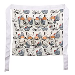 Chicken Egg Gathering and Collecting Apron, Chicken and Rooster Print