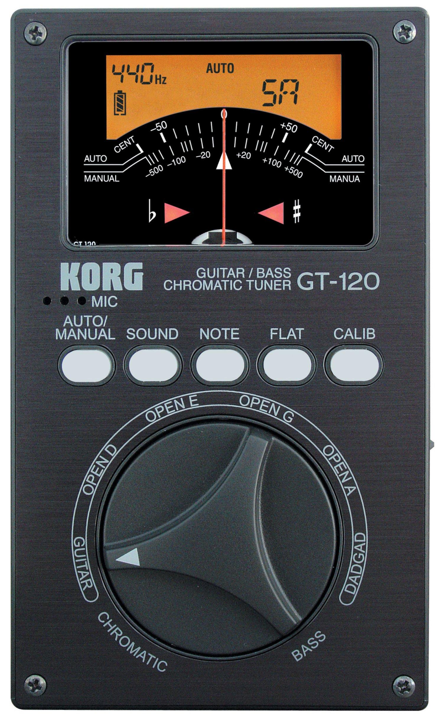 Korg GT120 Chromatic Guitar and Bass Tuner