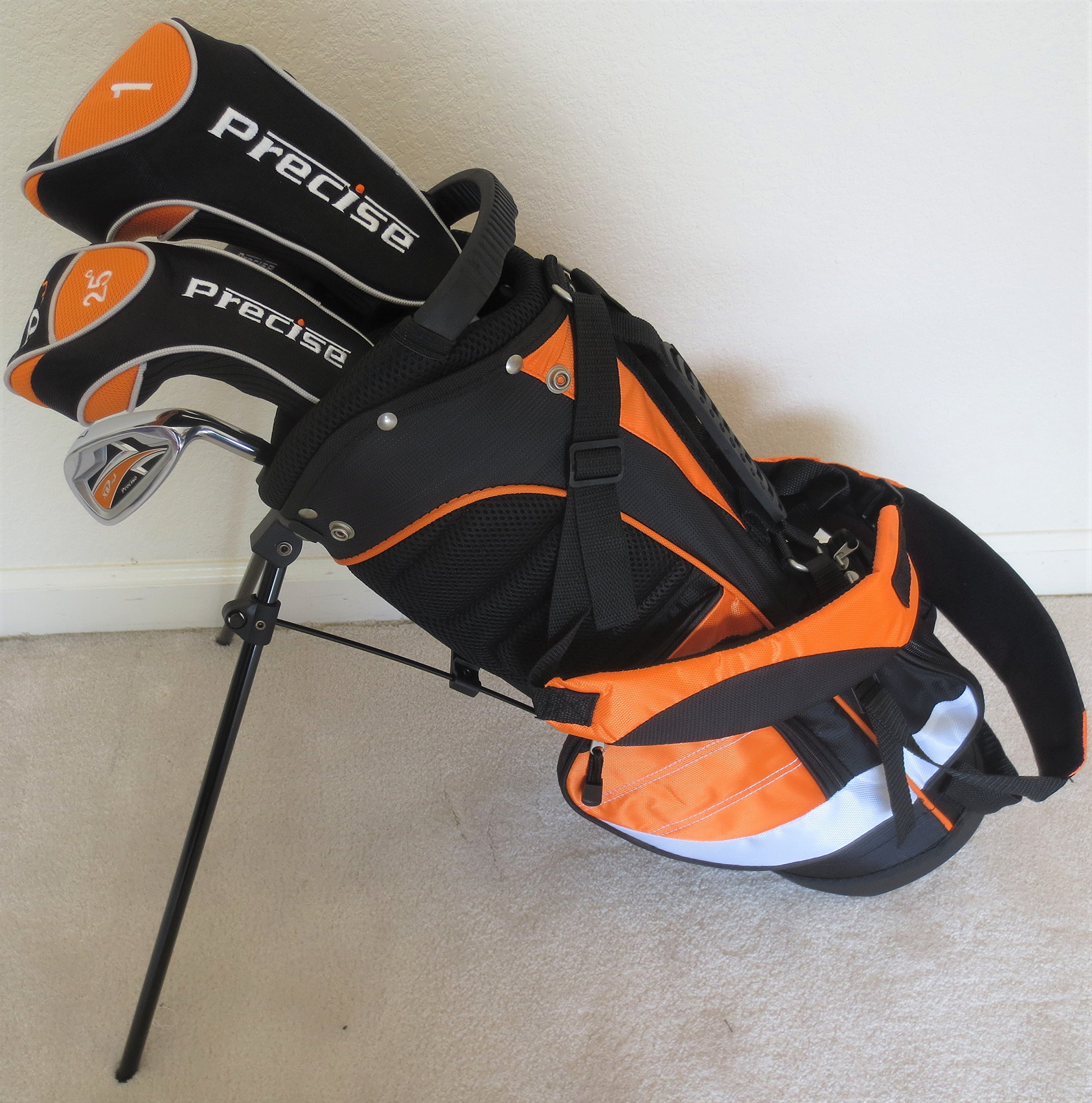 Boys Junior Golf Club Set with Stand Bag for Kids Ages 3-6 Orange Color Right Handed Graphite Shafts Custom Fit by Junior Power Golf Equipment (Image #1)