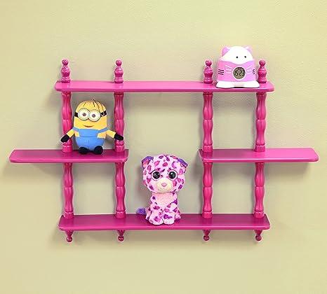 amazon com frenchi home furnishing kid s 3 tier wall shelves rh amazon com 2 tier wall shelves 2 tier wall shelves