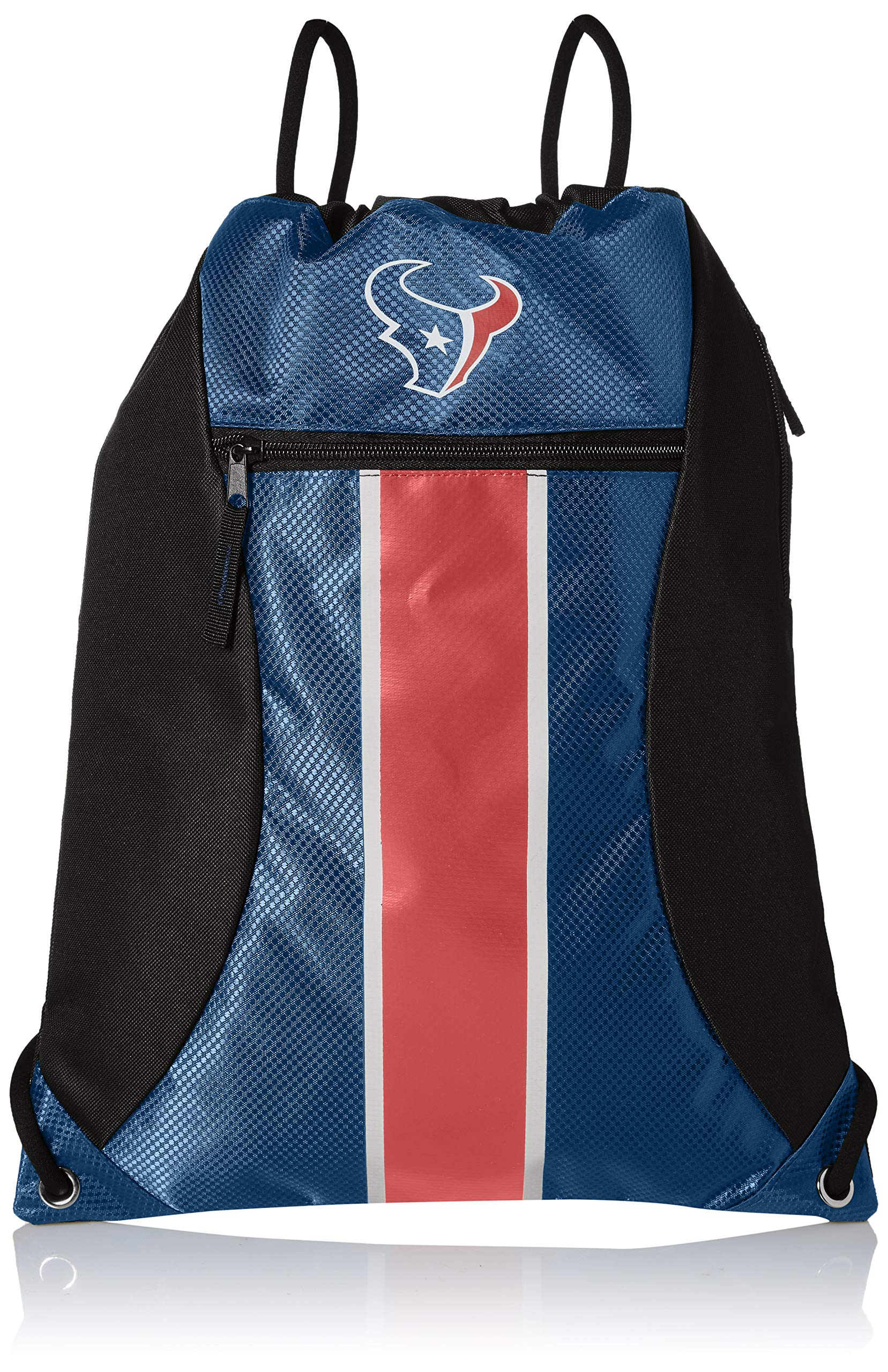 Houston Texans Big Stripe Zipper Drawstring Backpack