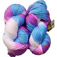 GANGA Glow Knitting Yarn Wool, Flourish 200 gm Woolen Crochet Yarn Thread. Best Used with Knitting Needles, Crochet Needles. Vardhman Wool Yarn for Knitting. Best Woolen Thread.
