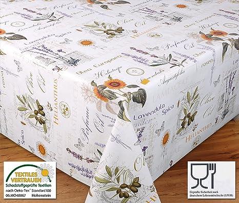 Wachstuchtischdecke Tischdecke Wachstuch Abwischbar Reliefdruck Motiv Provence Grosse Wahlbar 100 X 140 Cm Amazon De Kuche Haushalt