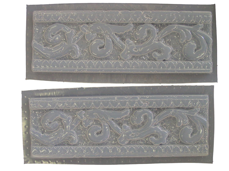 Roman border trim molds set of 2 poly plastic molds