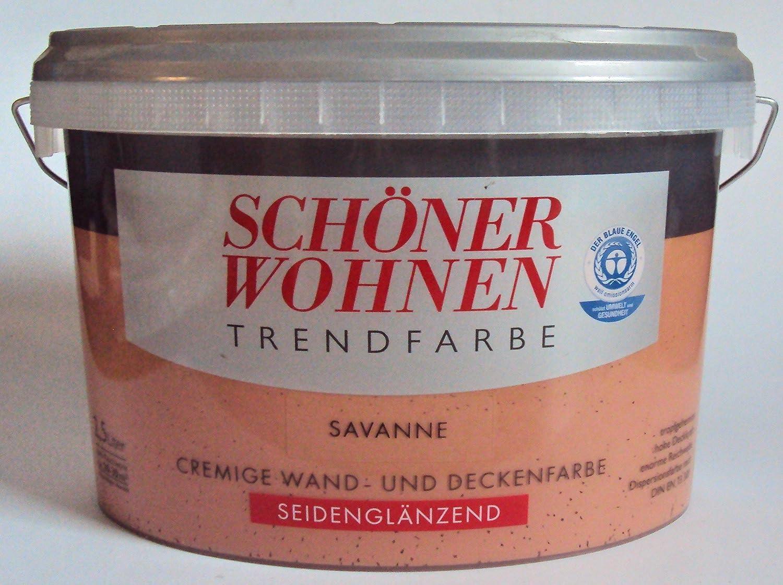 2,5 L Schöner Wohnen Trendfarbe, Wandfarbe, Savanne Seidenglanz ...