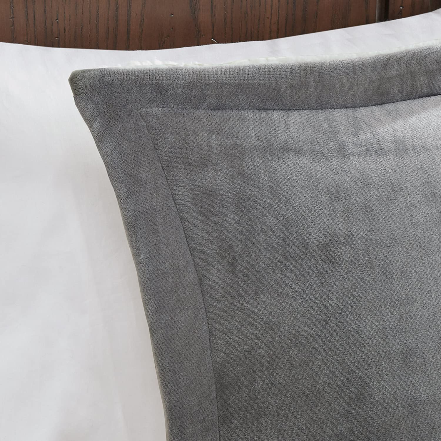 66236ede83 4 Pieces Bedding Sets Woolrich Alton Full/Queen Size Bed Comforter Set  Ivory Reversible Solid Grey ...
